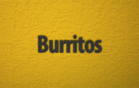 Burritos Menu